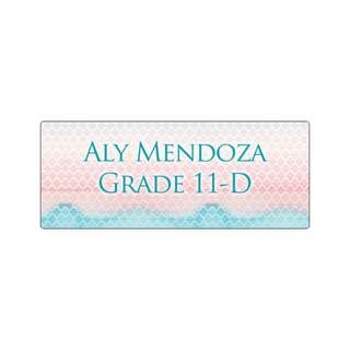 Personalized Sticker Labels (Rectangle) - Watercolor Geometry