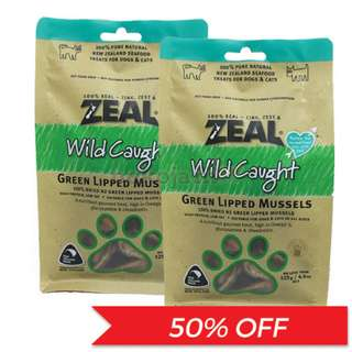 [50% OFF] Zeal® Wild Caught Green Lipped Mussels Dog & Cat Treats 125g
