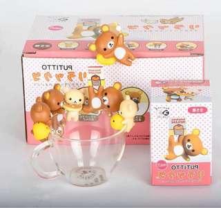 🚚 PUTITTO 拉拉熊 懶懶熊 杯緣 盒玩 可愛 造型 擺件 茶友 公仔