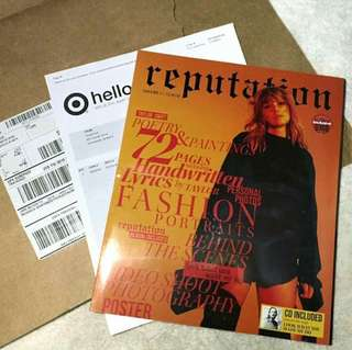 Taylor Swift reputation Magazine (Vol. 1 + CD) TARGET EXCLUSIVE