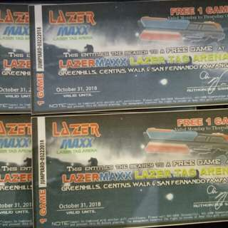 Lazer Maxx laser tag arena voucher for 1 game