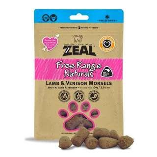 Zeal® Free Range Naturals Lamb & Venison Morsels Freeze-Dried Dog & Cat Treats (100g) (BUY 2 FREE 1)