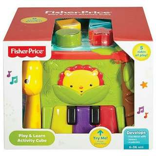 FREE SHIPPING Fisher-Price Play & Learn Activity Cube for 0-36months
