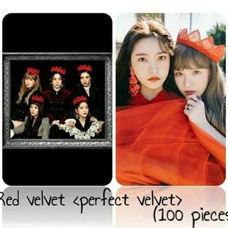 530 RED VELVET PECFECT VELVET PHOTOCARD 💫 (100 PIECES)