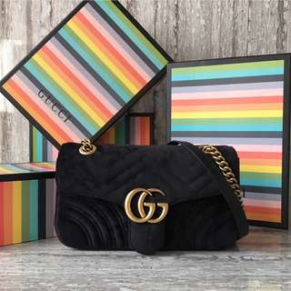 27df7da54a5 GUCCI GG MARMONT VELVET SMALL BAG