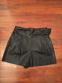 Brand new Black faux leather Shorts