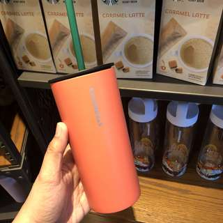 Starbucks stainless tumbler with straw