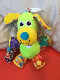 Lamaze Dog Toy for crib/stroller/sensory/teether