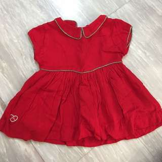Preloved red baby dress in very good condition. Hardly worn.