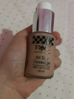 SOLD OUT PAC All day coverage 30ml shade natural