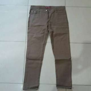 Celana Jeans Stretch Brown
