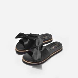 (INC POS) Siena Satin Bow Sliders #rayaletgo