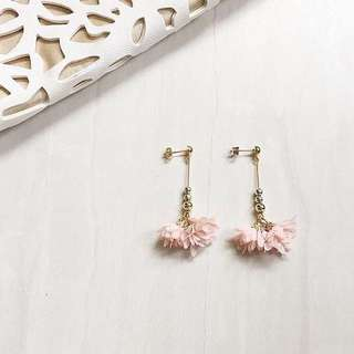 Floral tassel earrings