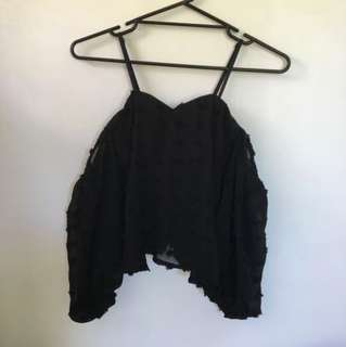 Ally Black Off Shoulder Blouse Size 6