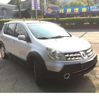 瑋哥車坊 正2009年Nissan Livina亮麗銀 省油省稅國民代步車 實車實價只要16.8萬 一手車 非自售
