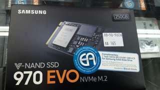 Samsung 970 EVO M.2 ssd 250gb pcie