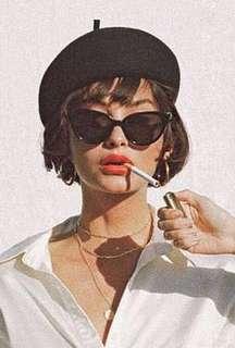Sarah Large Sunglasses (Black)