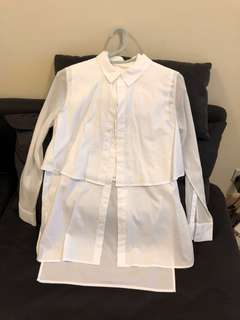 Initial白色多種著法恤衫(1號碼)