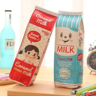 cute milk carton pencil case