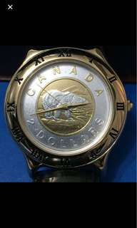 Vintage Canadian Mint Coin Watch
