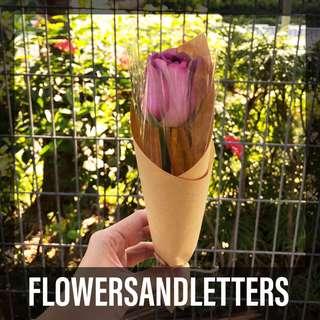 Sunflower / rose / Gerbera daisy fresh flower bouquet real flowers single stalk bouquet