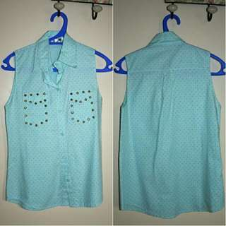 Studded Sleeveless Shirt
