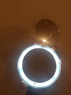 Compact Mirror with Led light with 10x mirror and swivel 180 degrees