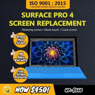 Microsoft Surface Pro 4 Touch Screen and Screen Replacement