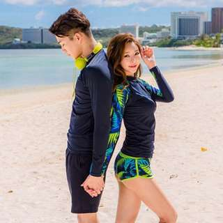 In Stock 💕Couples Korean version of UV Rash Guard,  Swimsuit, Swimwear, Beach Wear, Snorkel Wetsuit, jellyfish wetsuit , Sport wear