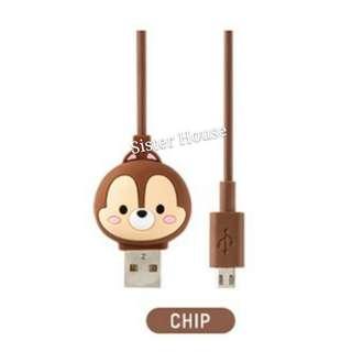(包郵)🇰🇷Disney Chip & Dale Charge & Sync 5PIN Cable 充電線