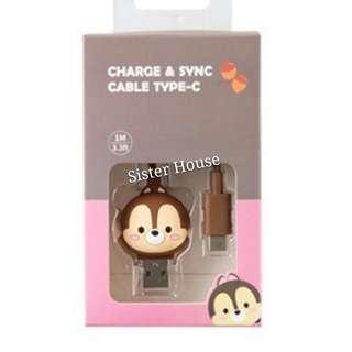 (包郵)🇰🇷Disney Chip & Dale Charge & Sync Type C Cable 充電線