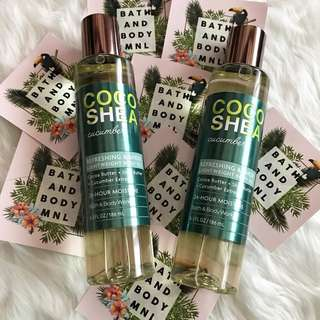 Body Oils from Bath and Body Works Coco Shea Cucumber