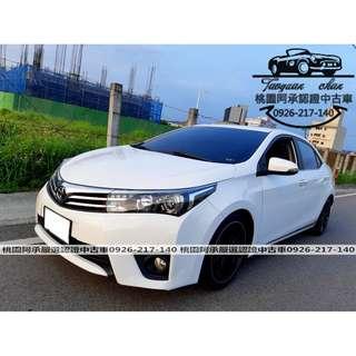 【FB搜尋桃園阿承】豐田 超人氣ALTIS G版 2015年 1.8 白色 二手車 中古車