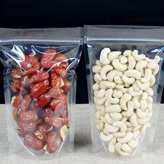 Self-Stand Clear/Transparent Resealable Ziplock Package Plastic Bags