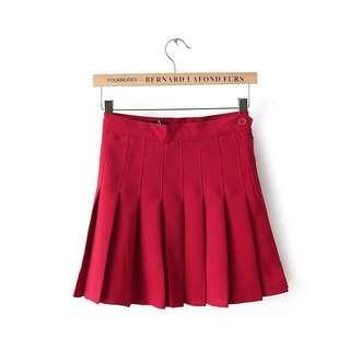 Ulzzang AA Red tennis skirt
