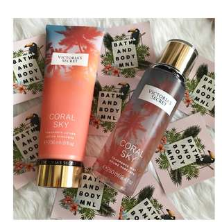 Victoria Secret Body Lotion/Spray Coral Sky