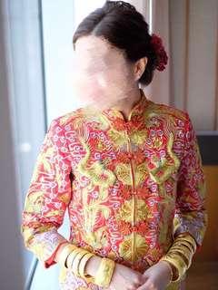 中式裙褂 大五福 婚慶傳統服飾 結婚用品