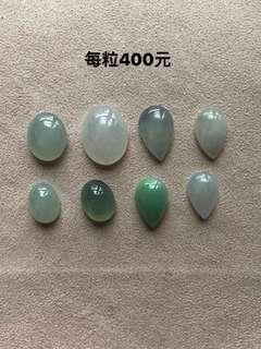 天然緬甸翡翠A玉,戒指蛋面,每粒400元