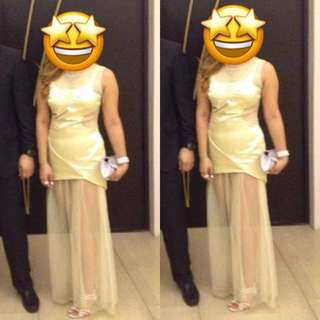 Gold fashionable gown