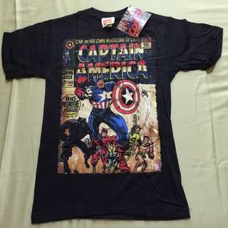 Marvel Captain America Comic Cover T-shirt