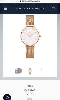 SET: Daniel Wellington Rose Gold Watch +