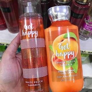 Bath and Body Works Body Mist/Cream Get Happy