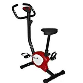 Indoor Upright Stationary Belt Exercise Bike red/white