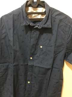 Quicksilver blue shirt with motif size S