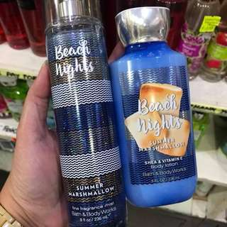 Bath and Body Works Body Mist/Cream Beach Nights
