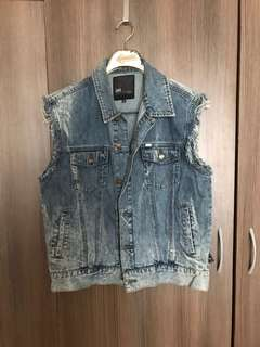 Lee Jeans Denim Cut Off Jacket