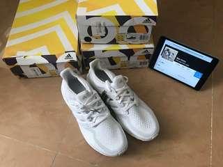 大腳' Adidas ultra boost 2.0 全白 AQ5929