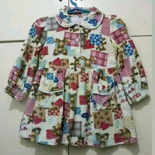 GA56 Teddy Bear Dress for Girls Age 5-6 (In Very Good Condition)