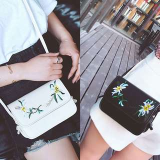 Embroidery crossbody messenger chic bag