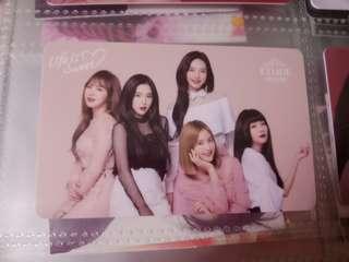 Red Velvet Group Etude Card
